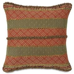 "Glenwood 16"" Sq. Decorative Pillow - Frontgate"