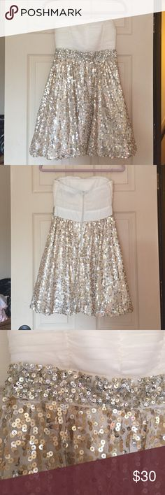 Dress Sequins dress that can be used for any nice occasion such as weddings, homecoming etc Sequin Hearts Dresses Strapless