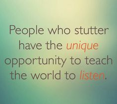 Did you ever think about #stuttering this way?