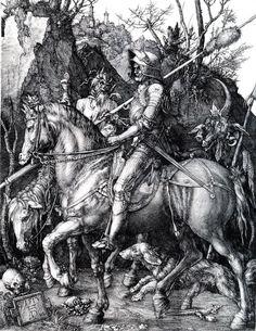Albrecht Dürer. Knight, Death, and the Devil. 1510. Engraving.
