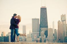 Chicago Engagement Photo, fall engagement photos downtown