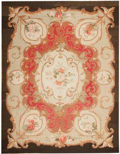 Antique Aubusson Carpets #43641  http://nazmiyalantiquerugs.com/antique-rugs/aubusson/