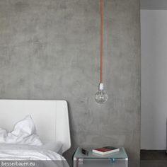 Für ein puristisch designtes Schlafzimmer beschichteten wir mit unserer eigenen BesserBauen Beton Cire Masse einen Wandspiegel in moderner Sichtbeton Optik.  Es …