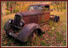 When my days grow short and cold, and I am old and rusty. Missing a couple of wheels, and the joints have rusted solid. Just set me among the flowers, and let me rest in peace.