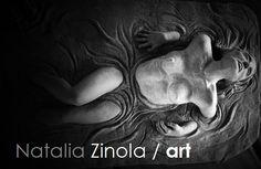 """escultura ceramica titulada """"Emergiendo"""""""