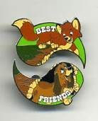disney fox and hound pin