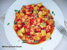 Go straight to the recipe I made this pumpkin stew in … – Table Ideas Pumpkin Stew, Fast Day, Ratatouille, Bruschetta, No Cook Meals, Food And Drink, Lunch, Cooking, Healthy