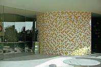 Architect Oscar Niemeyer, tegel paneel van Athos Bulcão