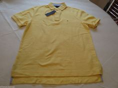 Men's Tommy Hilfiger Polo shirt NWT S solid NEW 7845163 Patent Yellow Heathr 722 #TommyHilfiger #polo