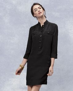 Silk Crepe Shirtdress by Magaschoni at Neiman Marcus.