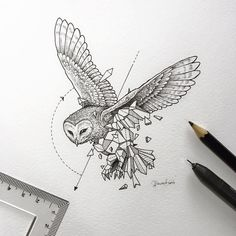 Geometric Owl Tattoo Designs - Geometric Owl Tattoo Design Tattoos on Brilliant Owl Tattoo Design Ideas That Youll Insp Owl Tattoo Design, Tattoo Designs, Tattoo Ideas, Design Tattoos, Geometric Drawing, Geometric Shapes, Geometric Animal, Geometric Owl Tattoo, Tattoo Abstract