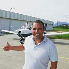 A preparar o vôo em Florianópolis #DanielMergulhao #dm1989 #aeroclubesc #florianopolis