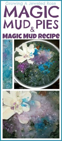 Recipe Bath Activities for Kids: Mud Science for Kids baking soda, food, coloring, and water, add vinegar Sensory Activities, Toddler Activities, Sensory Play, Sensory Table, Sensory Bins, Summer Activities, Projects For Kids, Crafts For Kids, Magic Mud