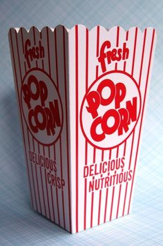 Retro Circus Popcorn Boxes 6 by sweetestelle on Etsy, $4.25