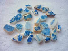 Sea Pottery Shards Mosaic Art Jewelry Craft  by TheMysticMermaid, $15.00