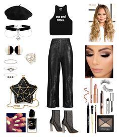 """All black everything 💂🏻♀️"" by iraida-g ❤ liked on Polyvore featuring TIBI, adidas Originals, Accessorize, Aspinal of London, Rimmel, Bobbi Brown Cosmetics, Charlotte Tilbury, Trish McEvoy, Givenchy and Giorgio Armani"