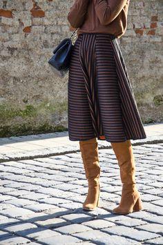 60's skirt & Turtleneck - shoes