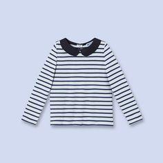 6a7ed3944b9b Striped nautical shirt WHITE BLUE Girl - Boys and girls Clothes - Jacadi  Paris Col