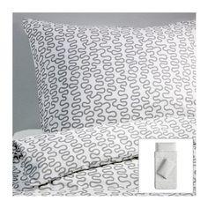 Amazon.com: Ikea Krakris Abstract Gray White Twin 2pc Duvet Quilt Cover Set Modern: Everything Else