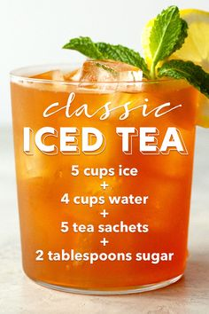 Want a super quick iced tea recipe that takes less than 10 minutes to make? An easy recipe that makes 2 quarts of perfect iced tea each and every time. Sun Tea Recipes, Punch Recipes, Homemade Iced Tea, Making Iced Tea, Tea Sandwiches, Brewing Tea, Sweet Tea, Summer Drinks, Drinking Tea
