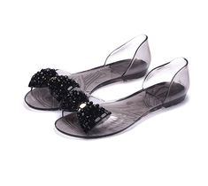 OMGard Women Sandals Summer Ribbon Bow Peep Toe Jelly Shoes Sandal Flat Shoes Woman 2 Colors Size -- You can get additional details at the image link. (This is an affiliate link) Ribbon Sandals, Shoes Flats Sandals, Peep Toe Shoes, Flat Shoes, Flat Sandals, Women's Shoes, Women's Jelly Shoes, Jelly Sandals, Womens Summer Shoes