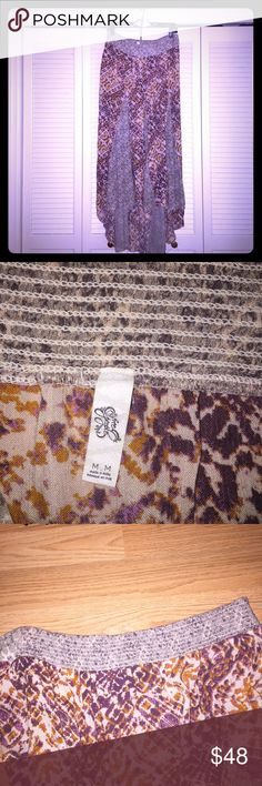Free People Maxi Skirt Sz M Beautiful rayon maxi skirt by Free People. Longer in the back, smocked waist in the back. EUC Free People Skirts Maxi