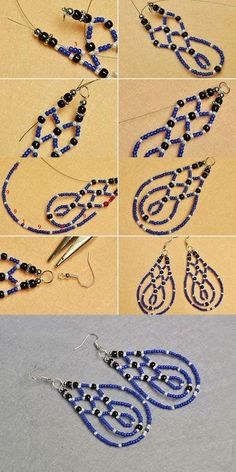 You will get the tutorial of this pair of blue seed beads earrings from LC.Pandahall.com soon. by rosario