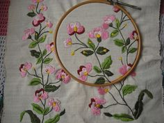 Flores -bordado - embroidery