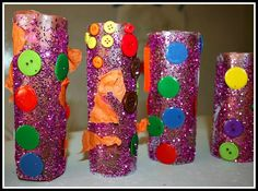 TP roll craft with contact paper. FUN  for a toddler.