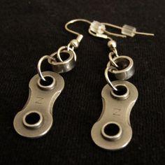 Bike Chain Earrings