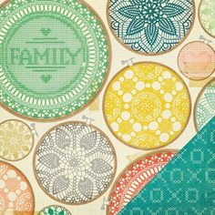 プリント&パターン:スクラップブック - クレート紙