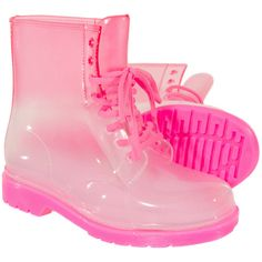 5fdb5a3e8c7 Blue Banana Clear Boots (Pink) ( 21) ❤ liked on Polyvore Clear Shoes