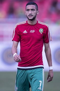 Hakim Ziyech of Morocco during the Africa Cup of Nations match between Morocco and Sao Tome E Principe at September 4, 2016 at the Complexe Sportif Prince Moulay Abdellah in Rabat, Morocco.
