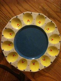 Deviled Egg plate I painted. So adorable!