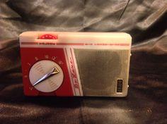 Red White Orion Deluxe Transistor Radio Japan | eBay