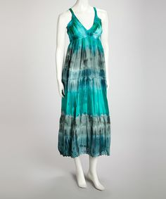 Take a look at this Avatar Imports Blue Tie-Dye Maxi Dress on zulily today!