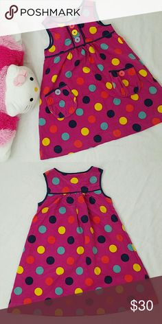 Polka Dots Dress Brand new with tag.  100% Cotton  Made in India. Two front pockets. Dresses Casual