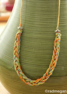 Viking Craft using Lucets: Knitting Fork Summer Necklace