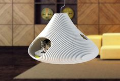 CAT-A-COMBE. cat cave cat house cat bed by AtelierSuburban on Etsy