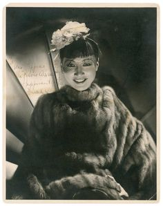 Portrait of Anna May Wong, 1930's