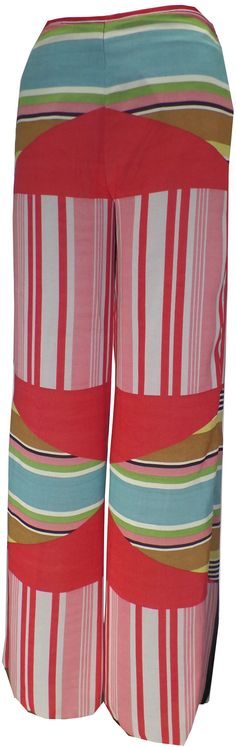 """Geometric Stripe"" Group Bell bottom pants from Petit Pois"
