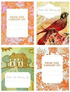 free printables:  Beautiful Bookplates!