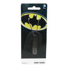 This lightweight easy to wear set of dog tags is great for the superhero fan in your life. Featuring the bat symbol logo on the larger tag and Gotham City on the smaller this is sure to become a DC fan favorite.