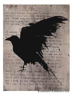 Typography poster The raven Poster print Nevermore door EEartstudio