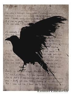 Typography poster The raven Poster print Nevermore door EEartstudio