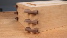 Create Decorative, Strong Boxes with Infinity's Exclusive Tapered . Woodworking Basics, Woodworking Joints, Woodworking Techniques, Woodworking Projects Diy, Fine Woodworking, Woodworking Apron, Diy Wooden Projects, Wooden Diy, Wood Crafts
