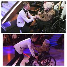 "Derek Hough: She says ""All I want to do is get up and dance on that floor."" THIS MAN IS AN ANGEL FROM HEAVEN."