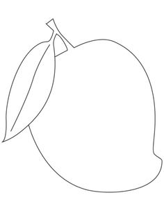 Mango fruit coloring pages Zoo Animal Coloring Pages, Fruit Coloring Pages, Preschool Coloring Pages, Coloring Pages To Print, Coloring Pictures For Kids, Coloring Sheets For Kids, Easy Drawings For Kids, Drawing For Kids, Mango Images