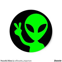 Shop Peaceful Bright Green Alien Black Classic Round Sticker created by silhouette_emporium. Cd Wall Art, Cd Art, Round Stickers, Cute Stickers, Alien Painting, Hamilton Wallpaper, Arte Alien, Alien Drawings, Vinyl Record Art