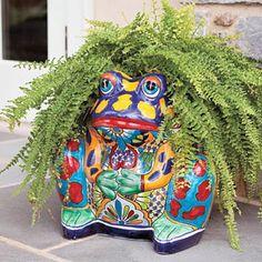 Talavera frog plantet